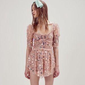 NWT For Love & Lemons Ace Mini Dress - Size Small
